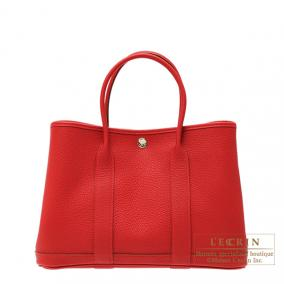 Hermes Garden Party bag TPM Rouge piment Negonda leather