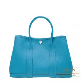 Hermes Garden Party bag TPM Turquoise Country leather