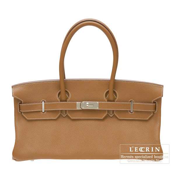 Hermes JPG Shoulder Birkin Gold Clemence leather Silver hardware