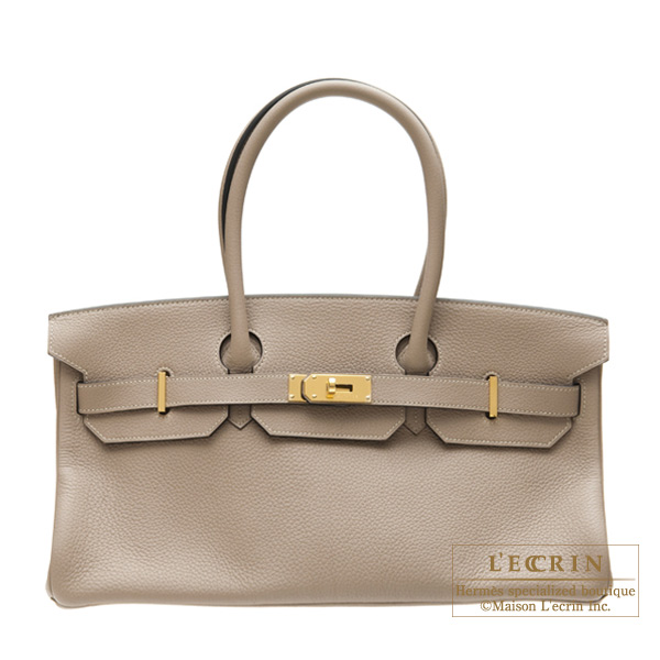 Hermes JPG Shoulder Birkin Gris tourterelle/Mouse grey Clemence leather Gold hardware