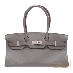 Hermes JPG Shoulder Birkin Etain/Etain grey Togo leather Silver hardware