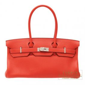 Hermes JPG Shoulder Birkin Geranium/Geranium red Togo leather Silver hardware