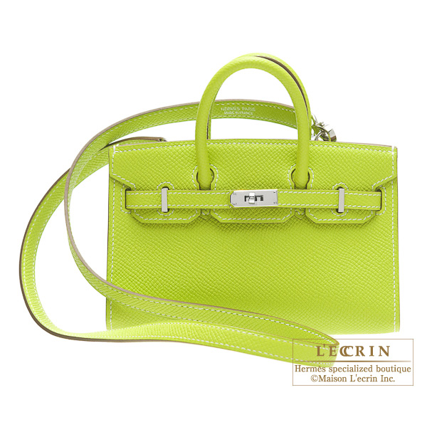 Hermes Tiny Birkin bag Kiwi/Kiwi green Epsom leatherSilver hardware