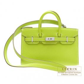 Hermes Tiny Birkin bag Kiwi/Kiwi green Epsom leather Silver hardware