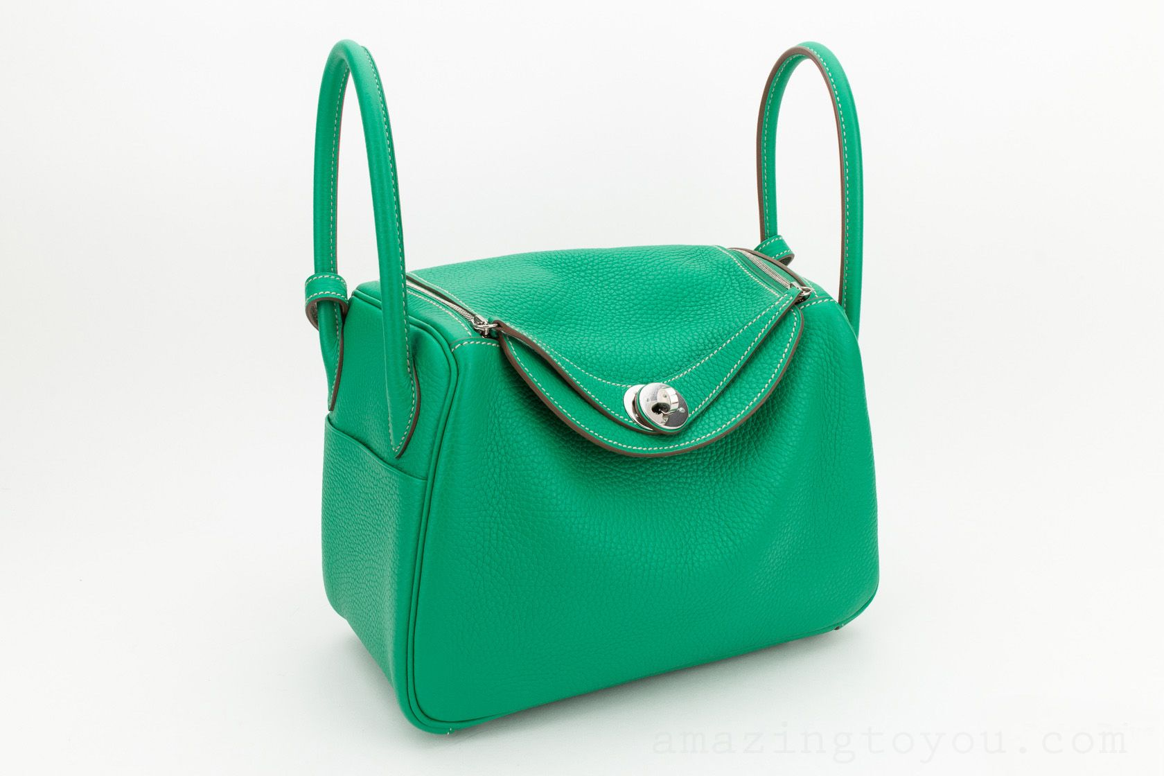 Hermes Lindy 26 Menthe/Etoupe Clemence