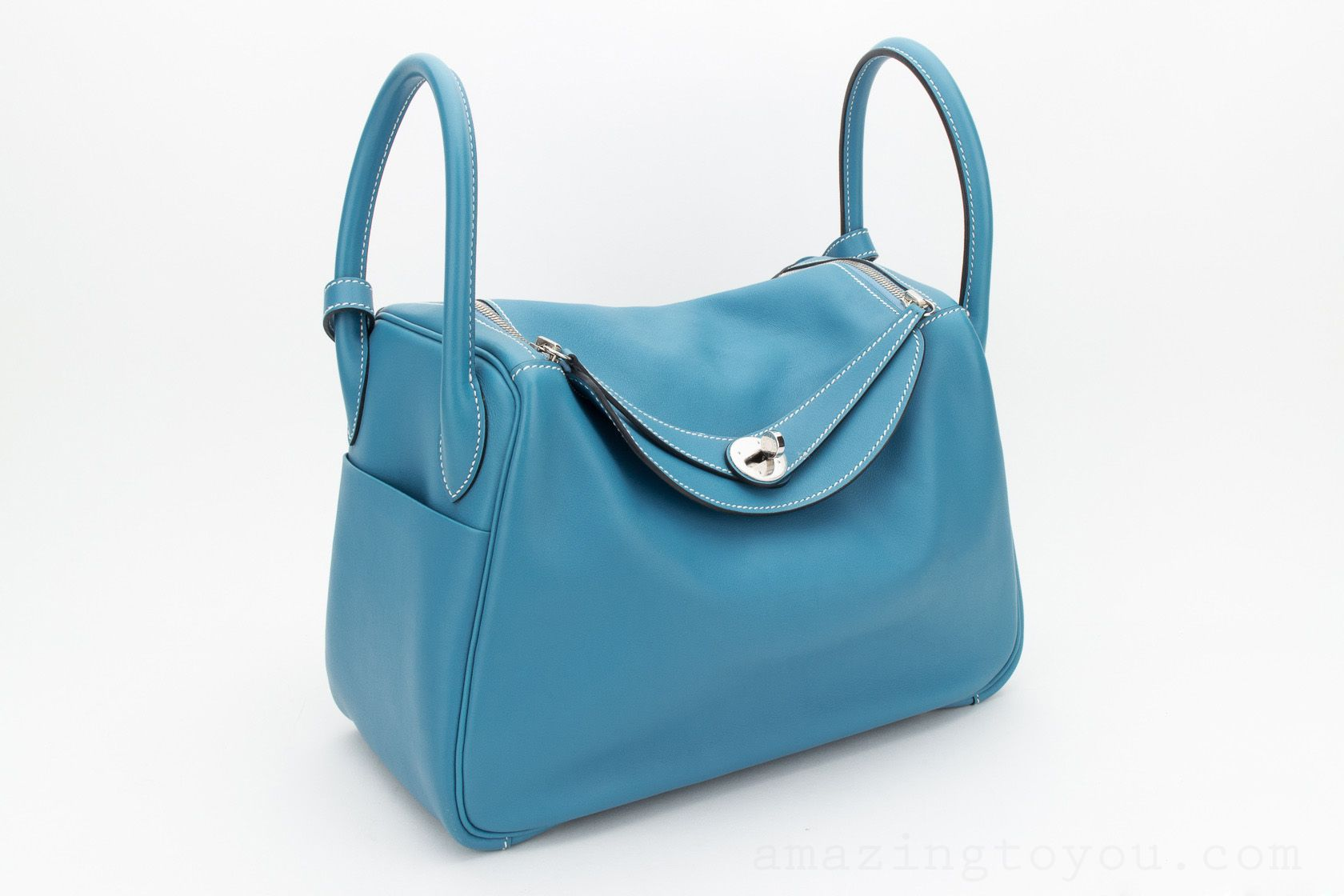 Hermes Lindy 30 BLUEJEAN SWIFT
