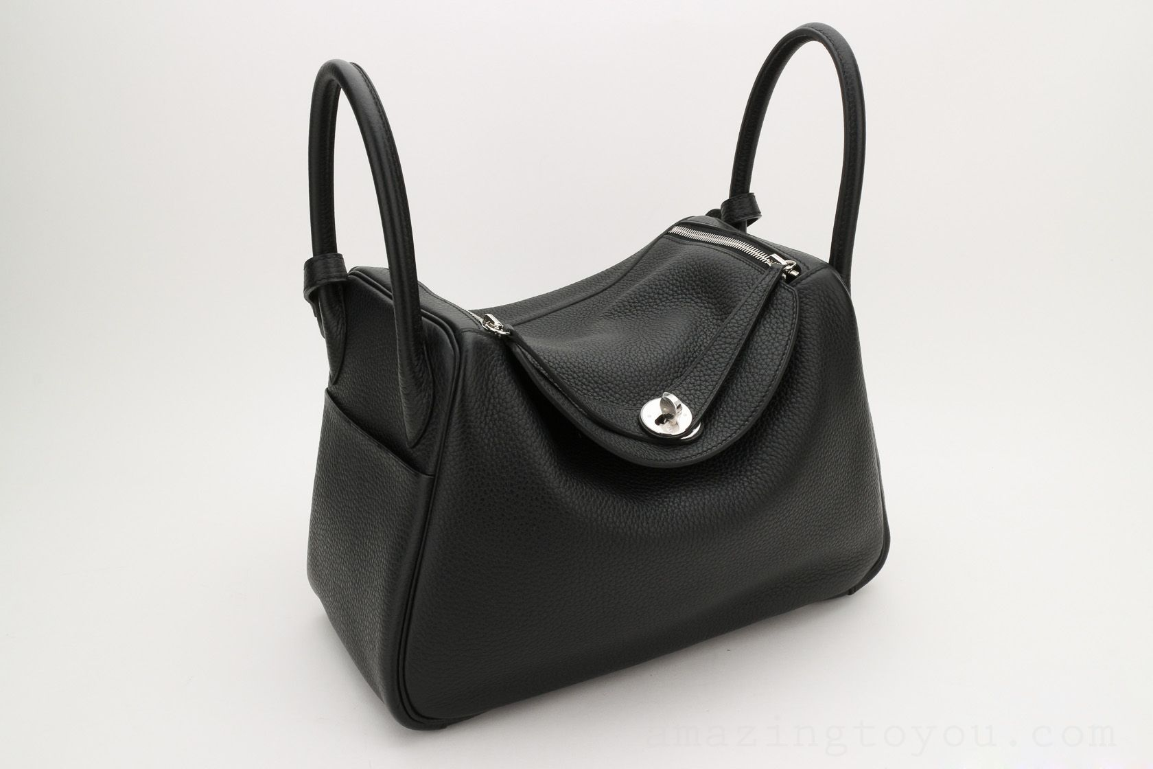 Hermes Lindy 30 Black Clemence