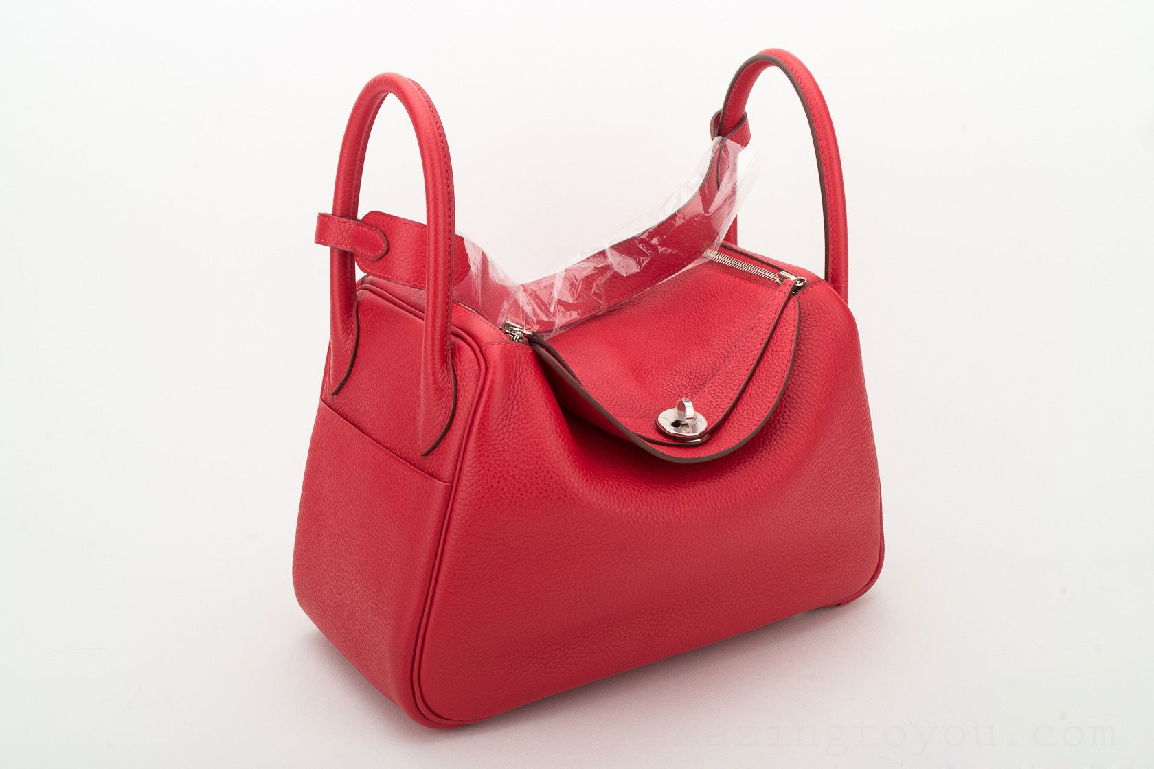 Hermes Lindy 30 Rouge Casaque Togo