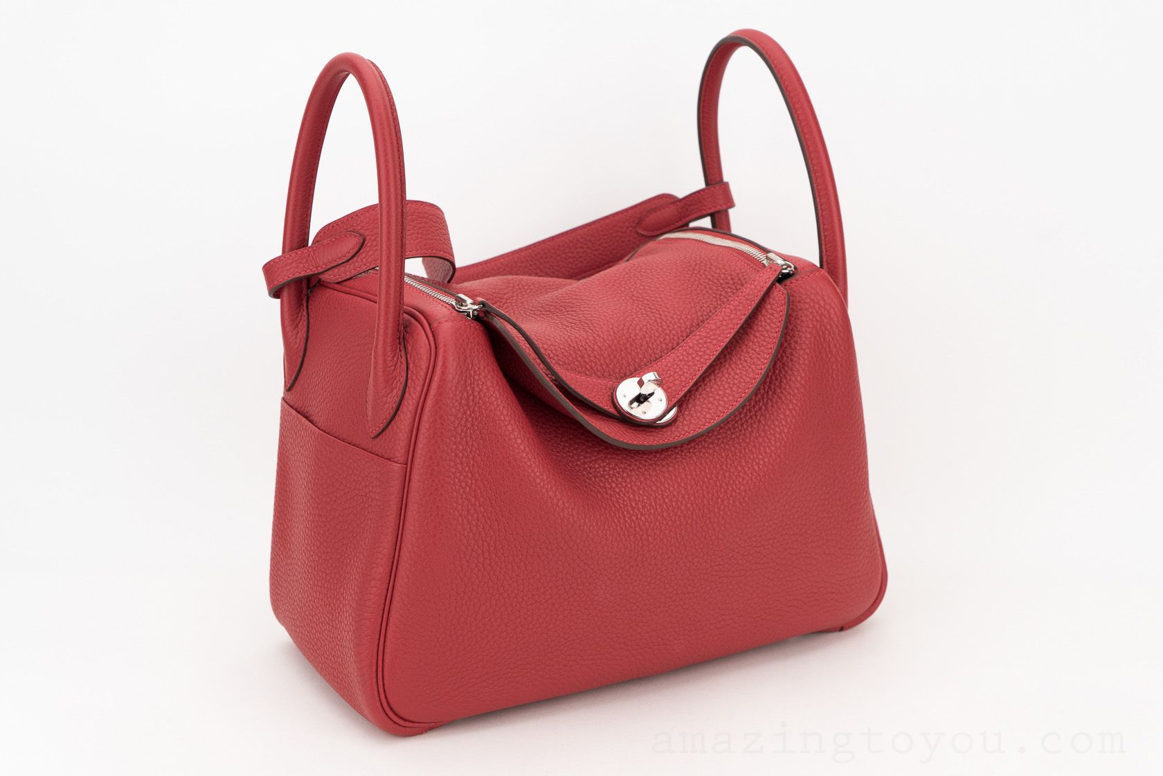 Hermes Lindy 30 Rouge Casaque Clemence