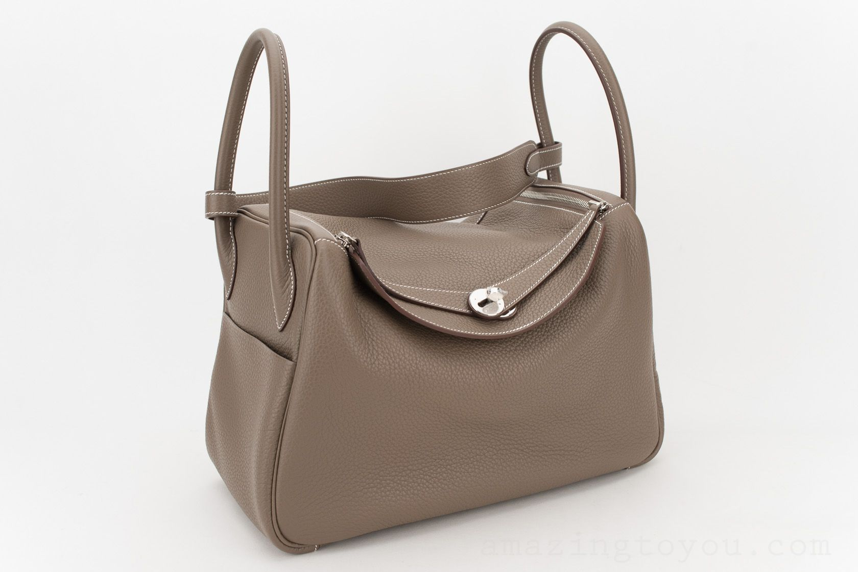 Hermes Lindy 34 Etoupe Clemence