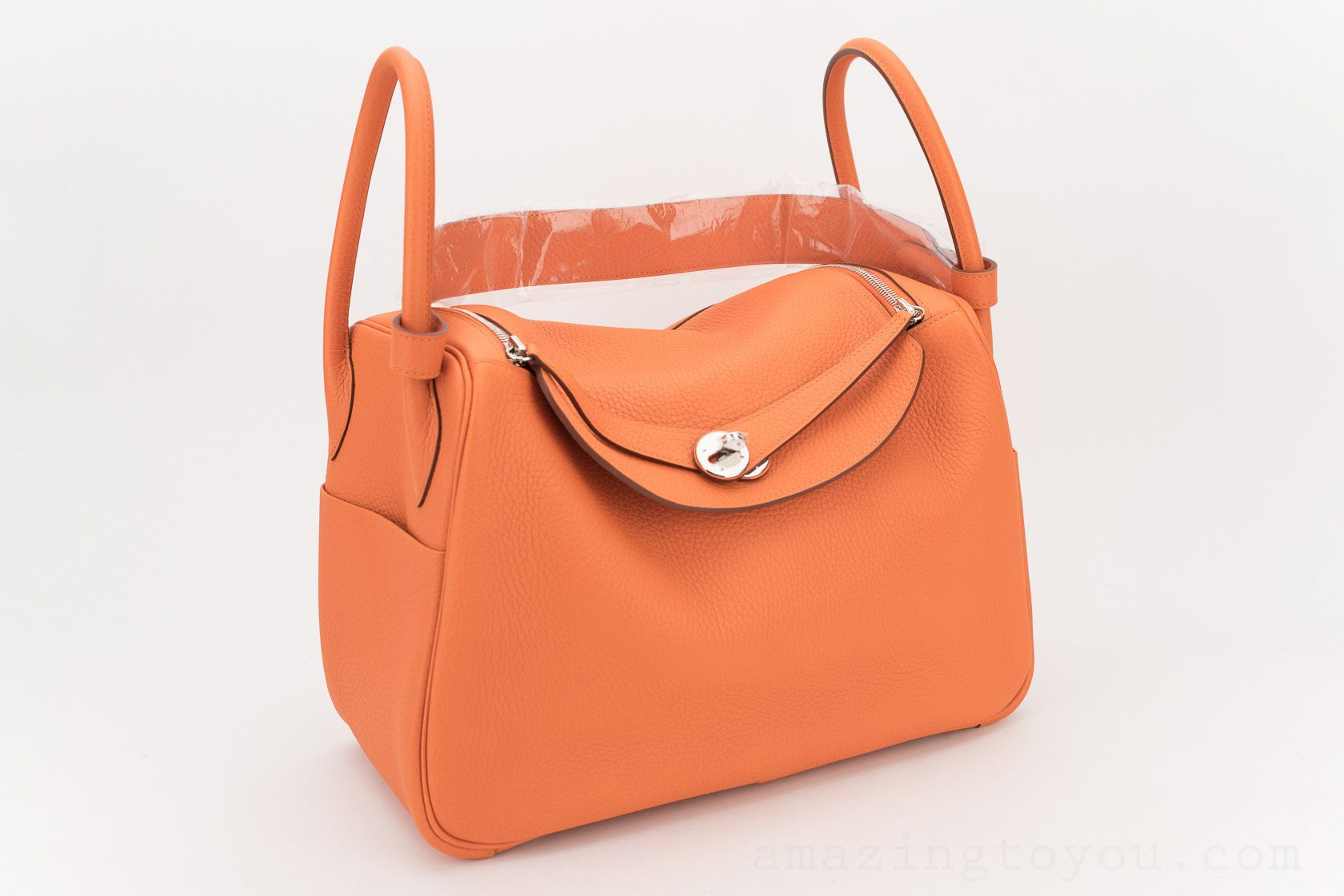Hermes Lindy 34 Orange Clemence